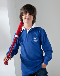 Boys Rugby Shirt, embroidered